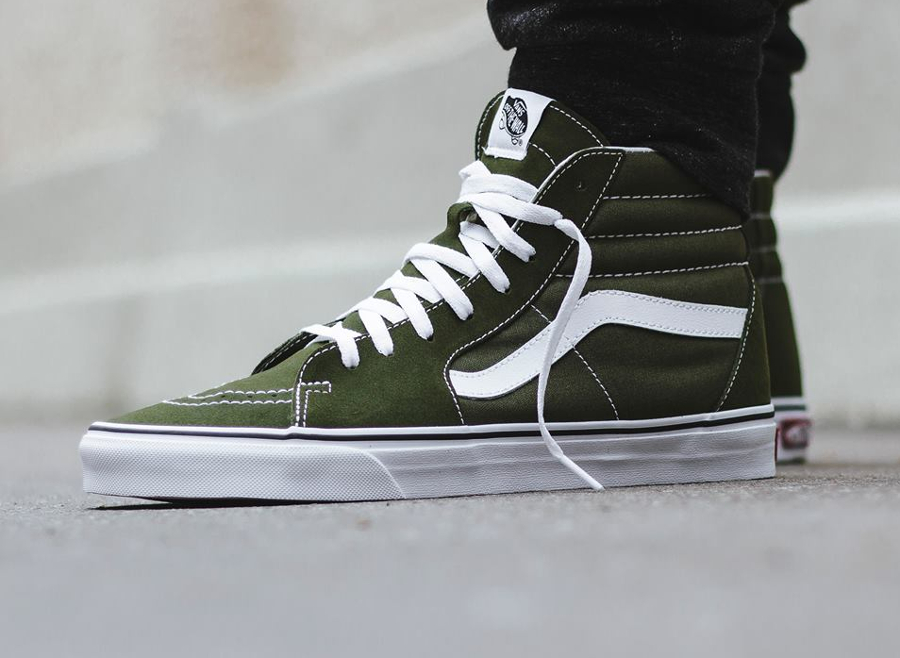 vans sk8 hi homme verte 39 winter moss 39 o l 39 acheter. Black Bedroom Furniture Sets. Home Design Ideas
