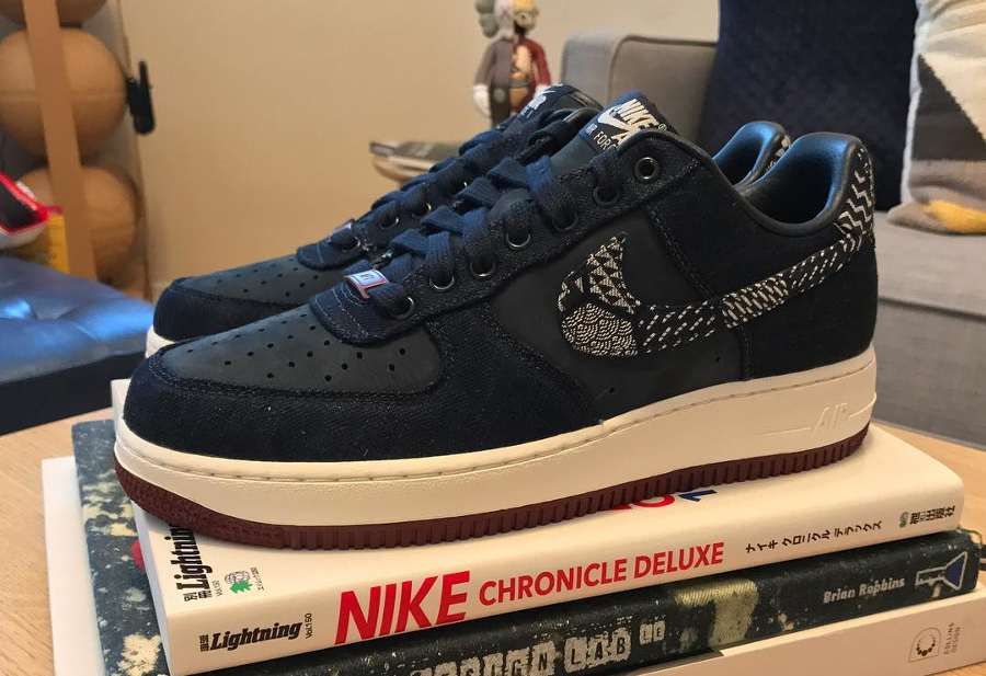 Nike Air Force 1 Premium ID Nubuck Denim Kikko Indigo