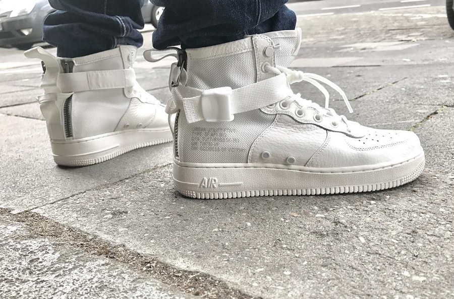 Nike Air Force 1 SF AF1 Mid Ivory - @nisan_nguyen