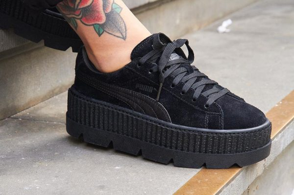 basket puma by rihanna creepers noir