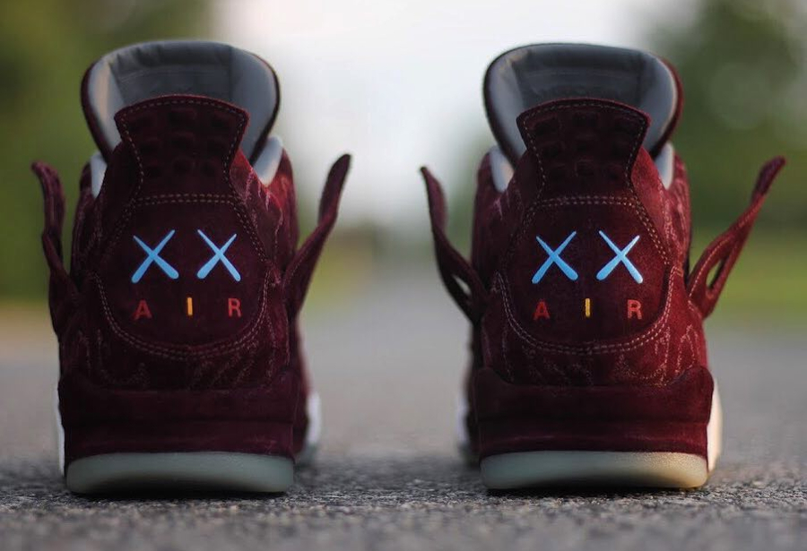 Air Jordan 4 Kaws 'Cherrywood'