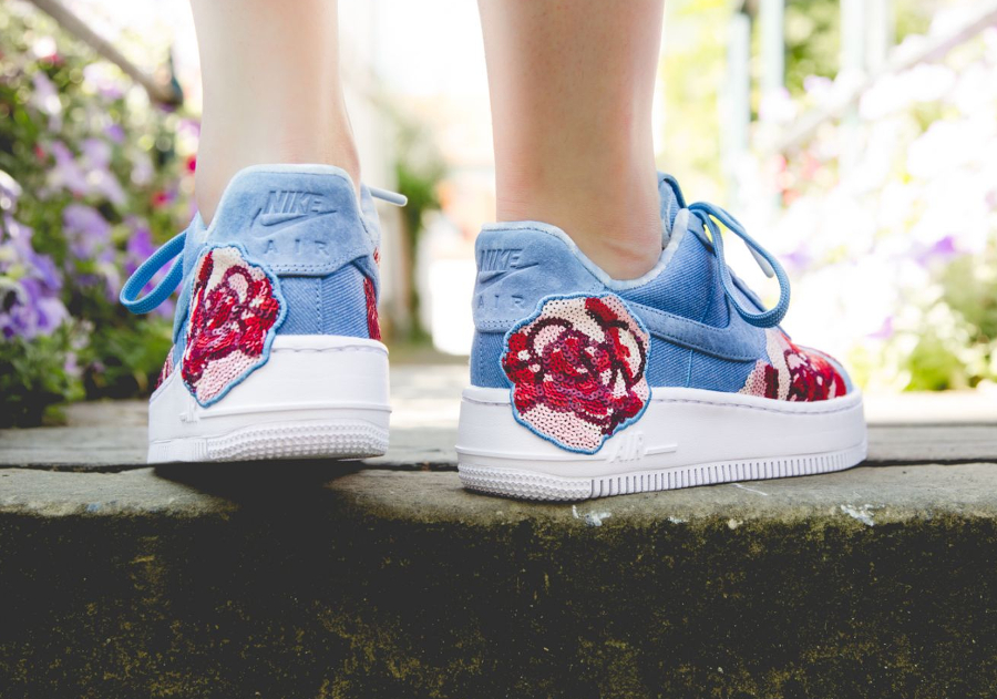 Nike Air Force 1 Upstep LX 'Floral' December Sky