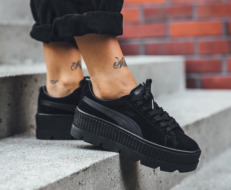 chaussure-Fenty-Rihanna-Puma-Cleated-Creeper-femme-Noire-Black (1)