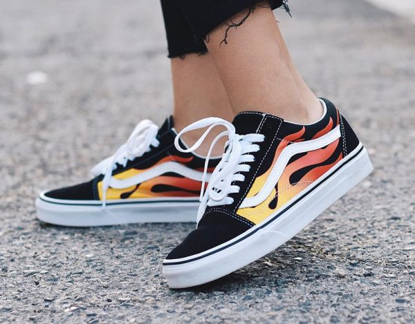 Vans Old Skool Flame BlackTrue White VN0A4U3BXEY