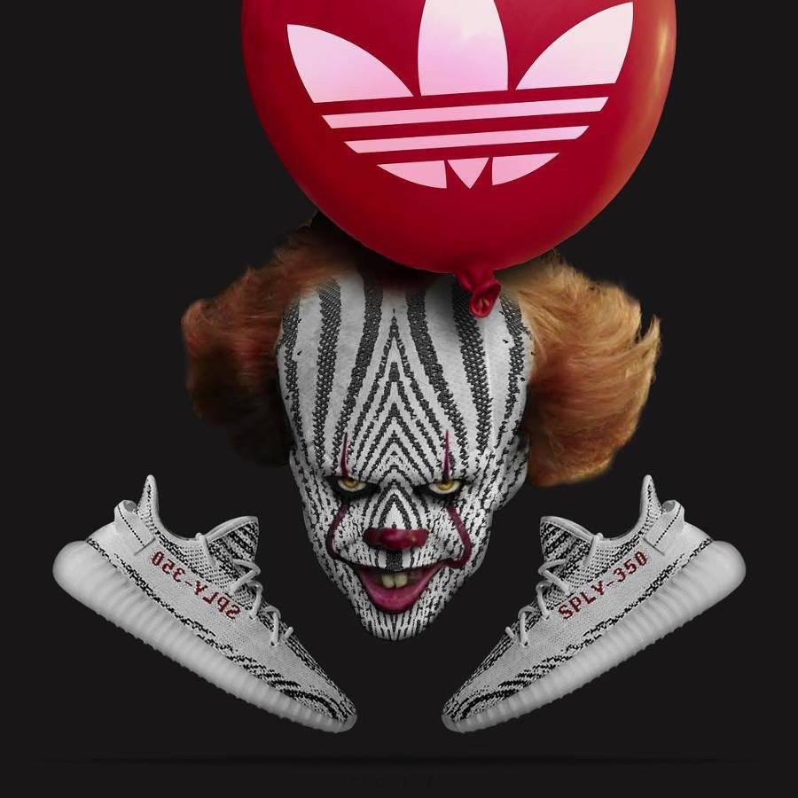 Ça le clown x Adidas Yeezy 350 Boost Zebra