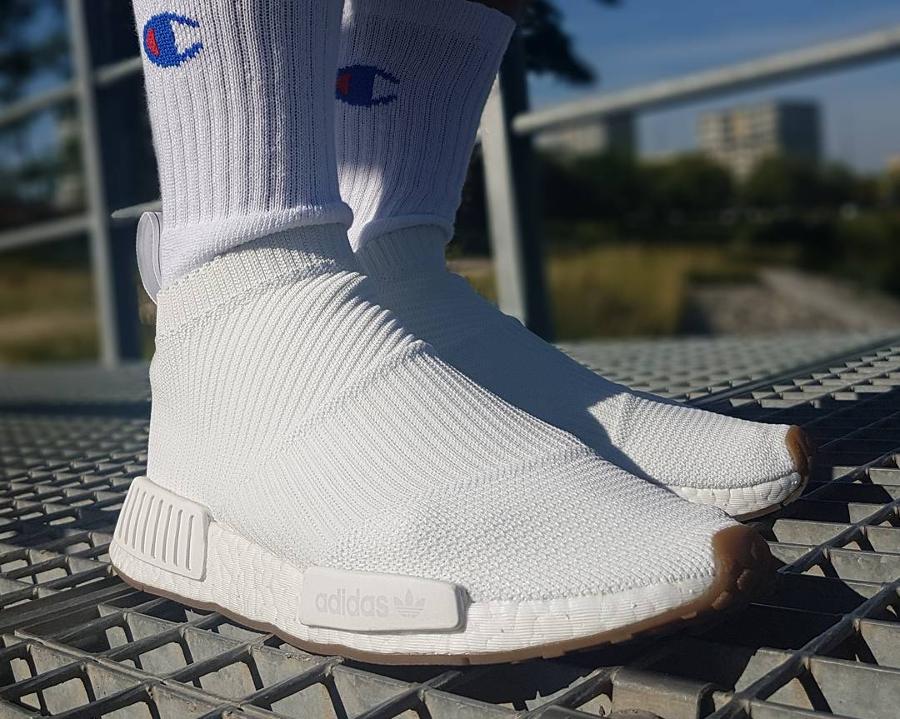 Adidas NMD City Sock White Gum - @kozlowskinsta