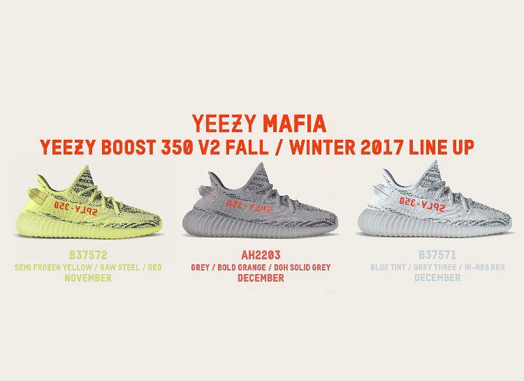 Adidas Yeezy 350 Boost V2 automne 2017