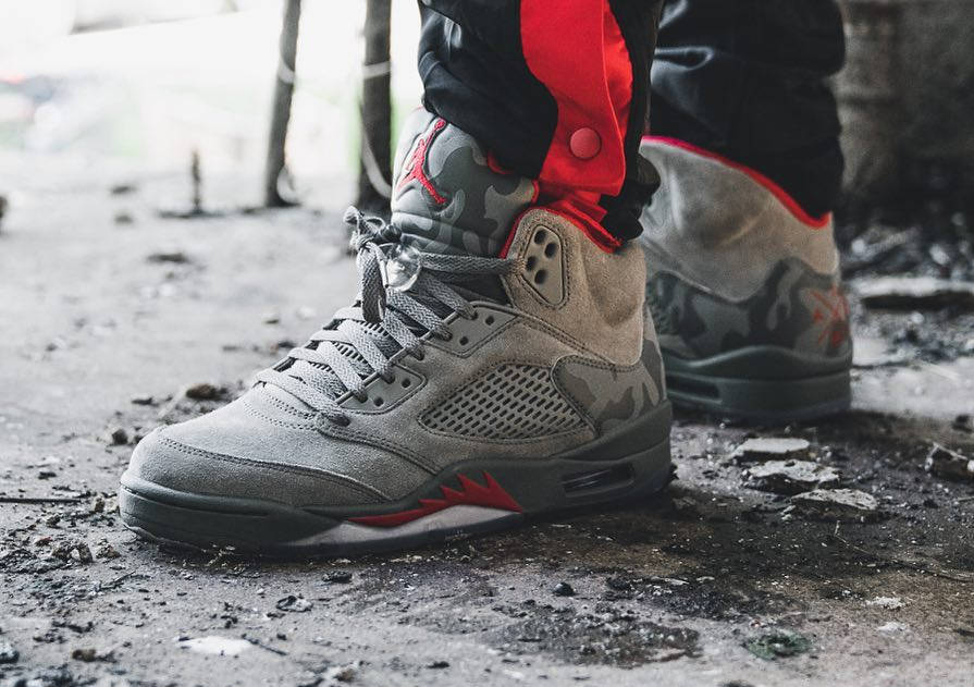 Air Jordan 5 Retro Dark Stucco Camo - @nicholas.case