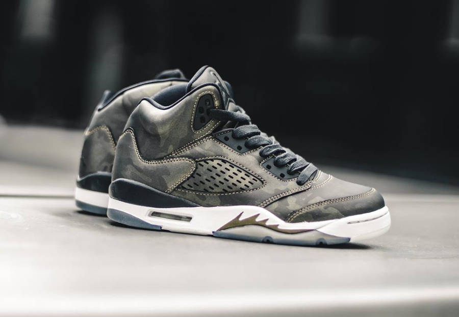 Avis Chaussure Air Jordan 5 PRM Heiress HC Camo Metallic Bronze (femme)