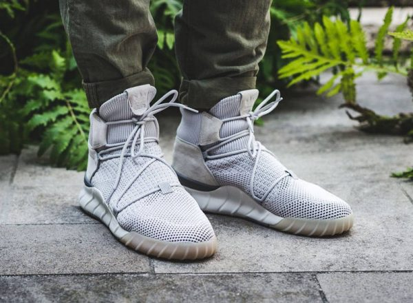 Chaussure Adidas Tubular X 2.0 Primeknit Montante grise Grey One