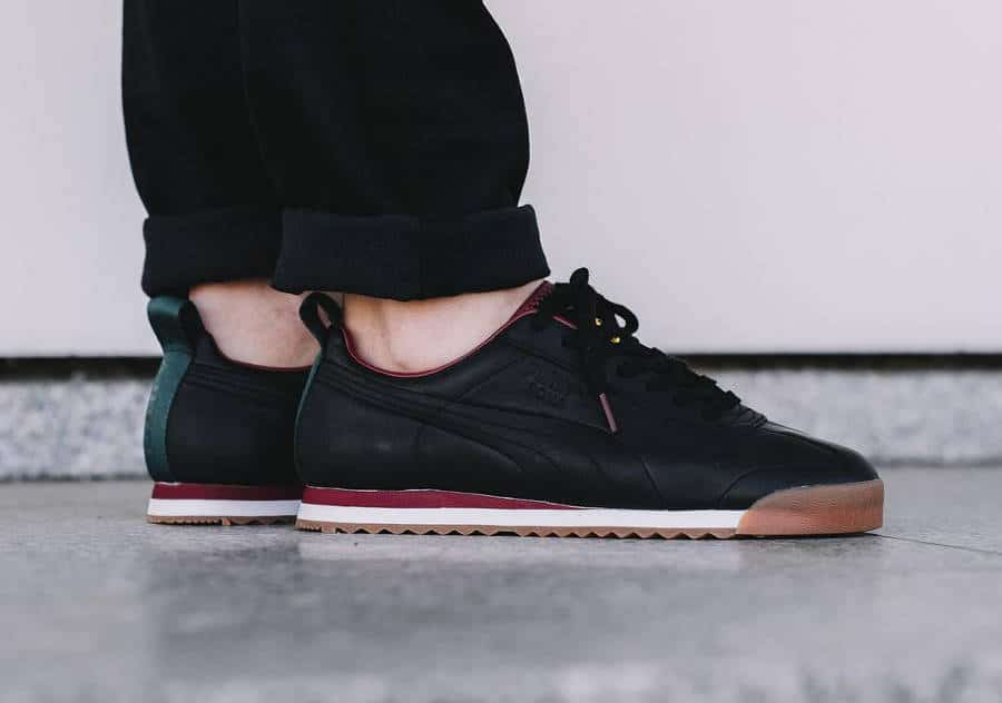 Chaussure Daily Paper x Puma Roma Leather Noire Africa