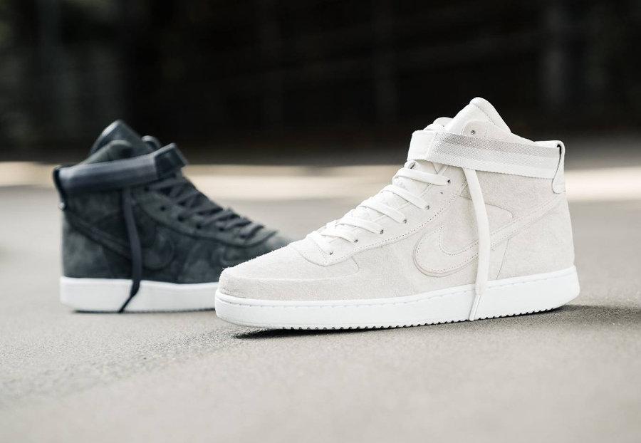 Chaussure John Elliott x NikeLab Vandal High Grise Blanche