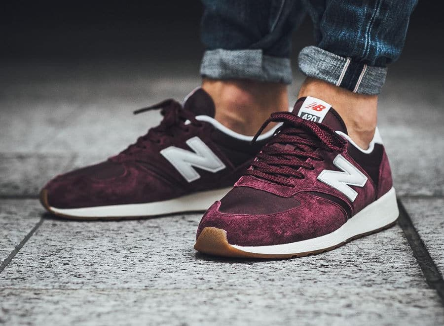 new balance 420 bordeaux marron
