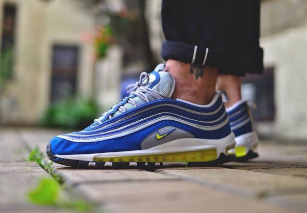 Chaussure Nike Air Max 97 OG Atlantic Blue Voltage Yellow (édition 2017)