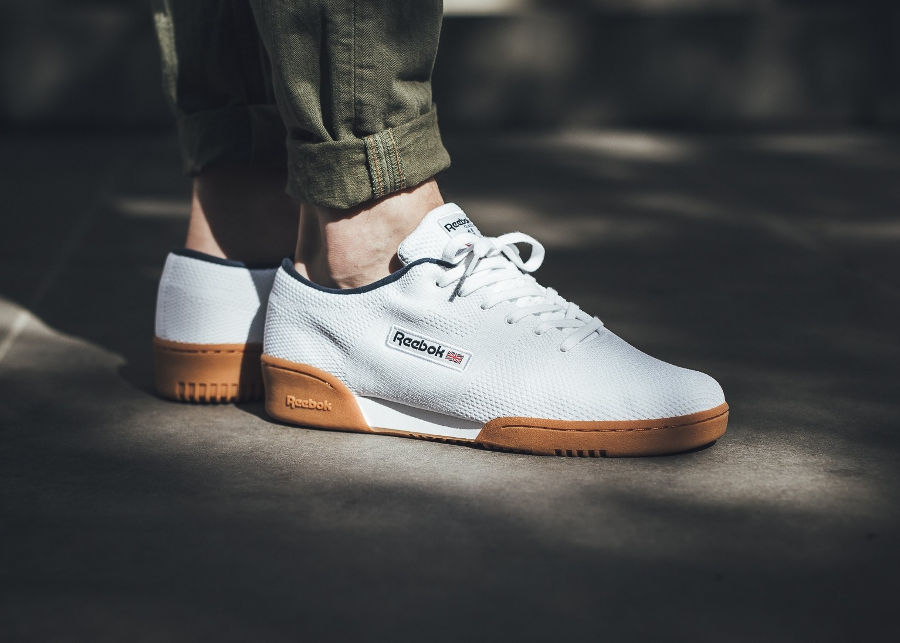 Chaussure Reebok Workout Clean OG Ultraknit Blanche White Gum