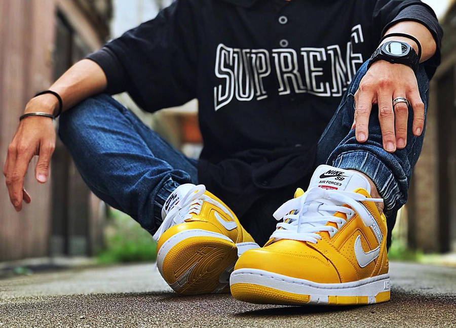 Chaussure Supreme x Nike SB Air Force 2 II AF2 World Famous