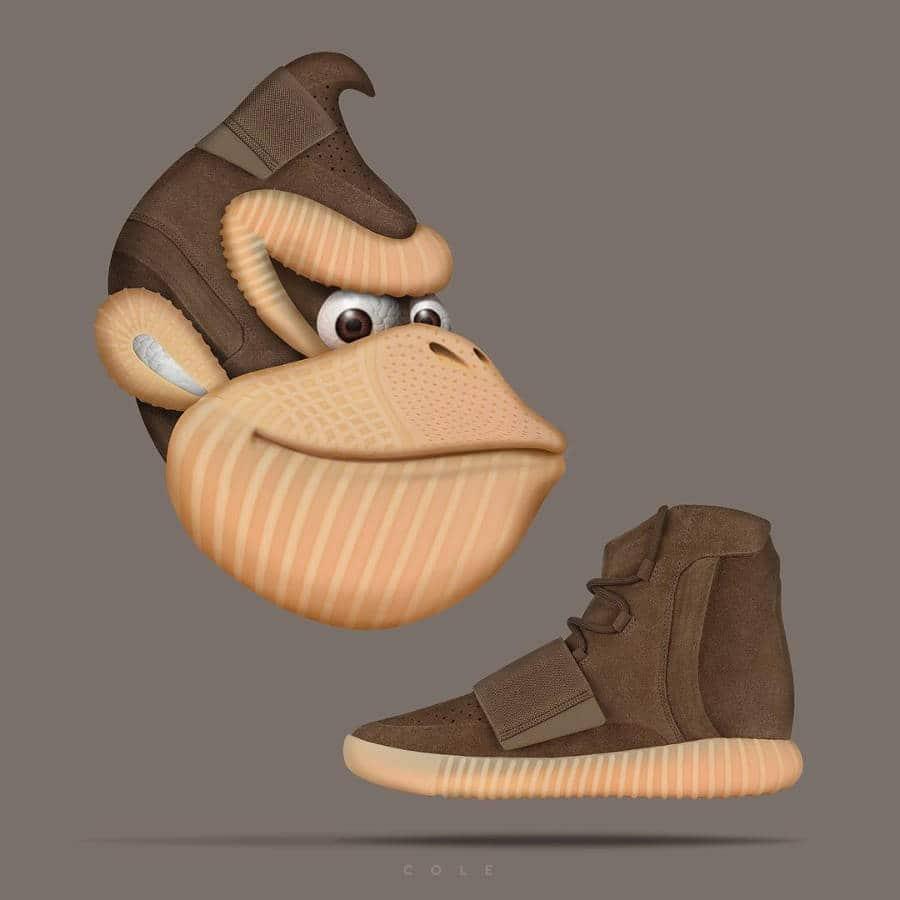 Donkey Kong x Adidas Yeezy 750 Boost Chocolate