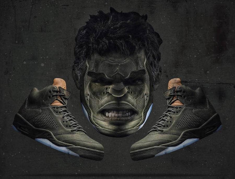 Hulk x Air Jordan 5 Premium Take Flight