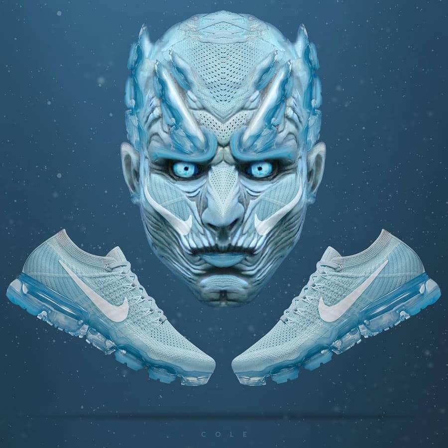 Night King GOT x Nike Air Vapormax Glacier Blue