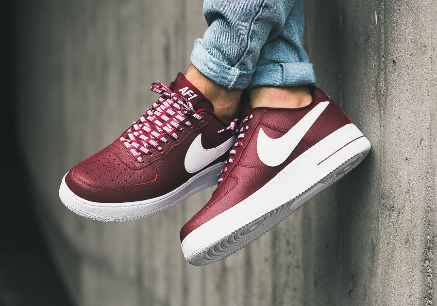 nike air force 1 bianca e bordeaux