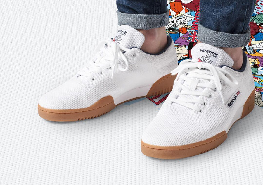 chaussure-reebok-workout-clean-ultraknit-tricotée-white-gum-homme