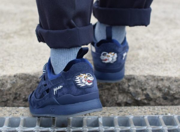 Beams x Mita Sneakers x Asics Gel Lyte 3 Navy Souvenir Jacket (1)