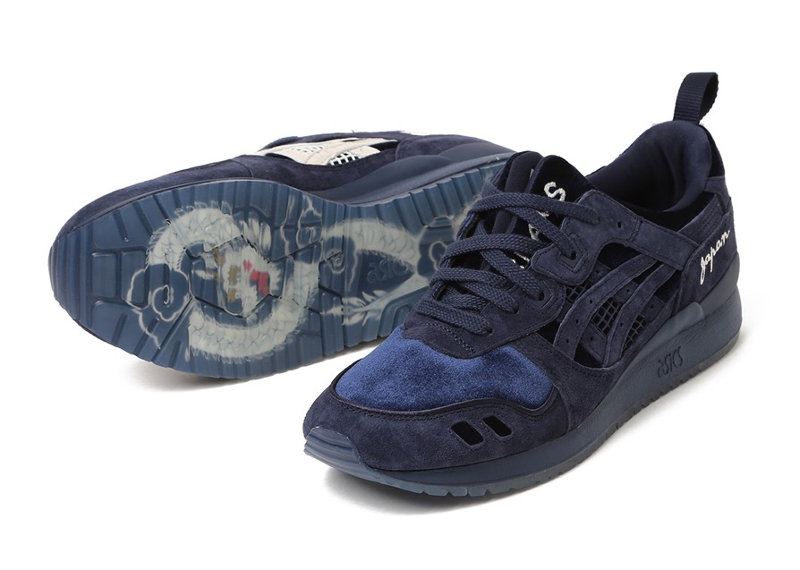 Beams x Mita Sneakers x Asics Gel Lyte 3 Navy Souvenir Jacket
