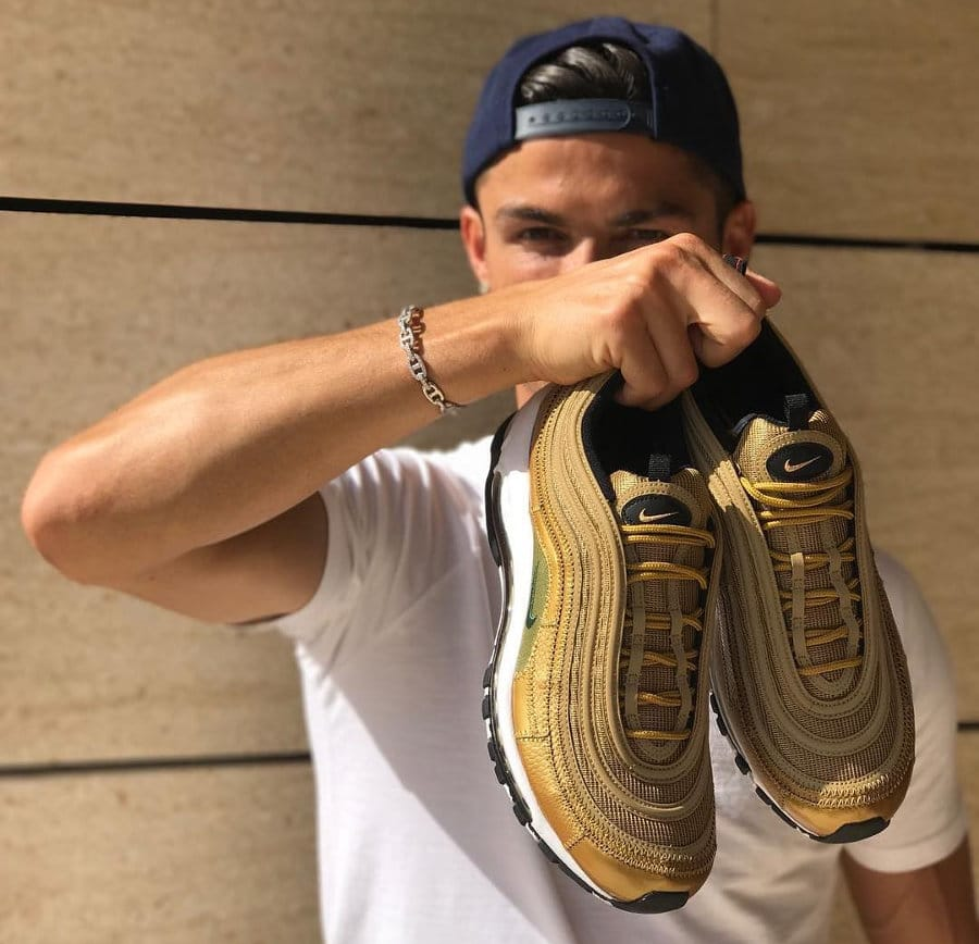 Chaussure Nike Air Max 97 CR7 Dorée Golden Patchwork