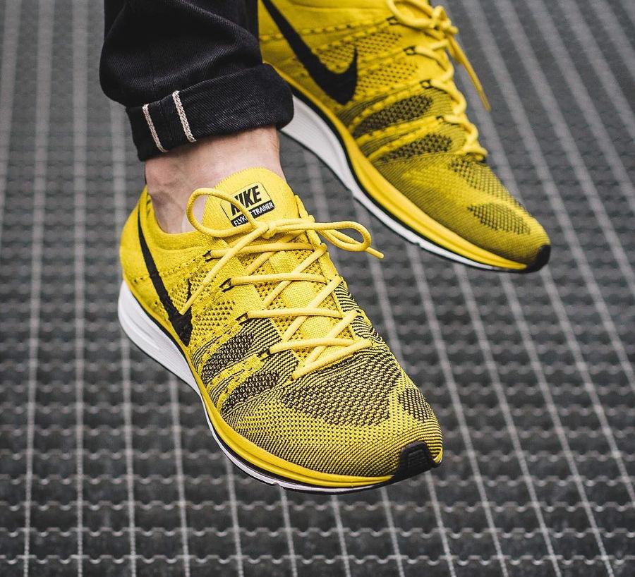Chaussure Nike Flyknit Trainer Cédra Jaune Bright Citron