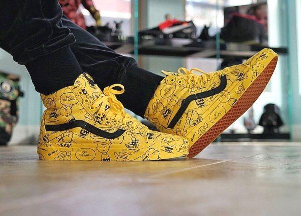 Peanuts x Vans SK8 Hi Maize 'Charlie Brown'