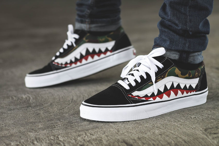 Bape x Vans Old Skool 'Shark'
