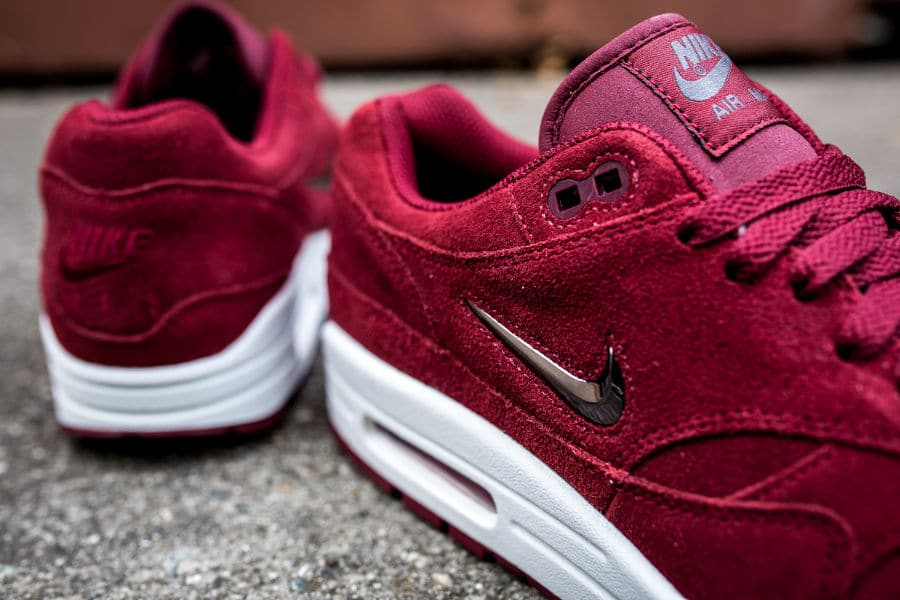 Nike Air Max 1 PRM SC Jewel Rouge 'Team Red Suede'