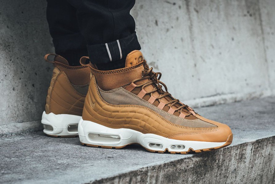 la meilleure attitude c7357 b591c Nike Air Max 95 Mid Sneakerboot Wheat Flax (marron)