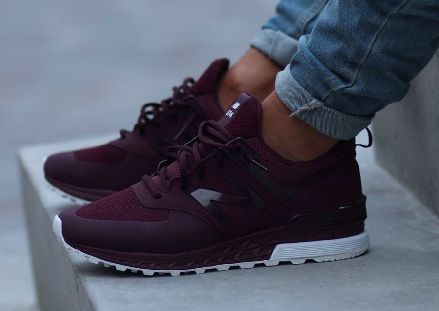 Sport New Balance 574 Bordeaux 3A4j5RL