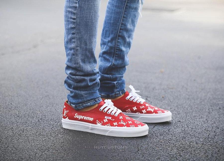 chaussure-supreme-lv-louis-vuitton-vans-authentic-red (2)