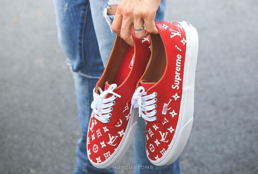 Supreme x Louis Vuitton x Vans Authentic 'Red'