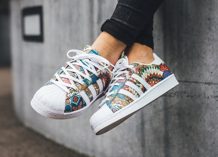 The Farm Company x Adidas Superstar W 'Tropical' (Noble Teal)