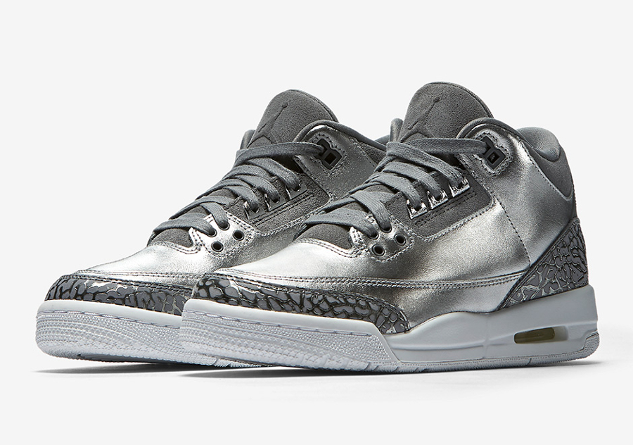 Air Jordan 3 Retro 'Heiress' Chrome