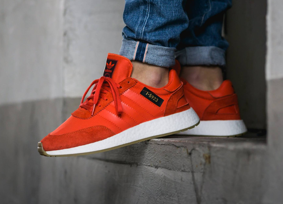 Chaussure Adidas I-5923 Iniki Runner Rouge Core Red (1)