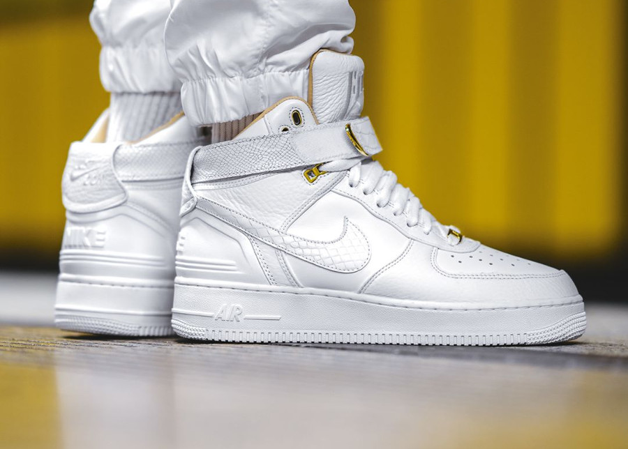 Chaussure Don C x Nike Air Force 1 High Just Don AF100 35 ans on feet (2)