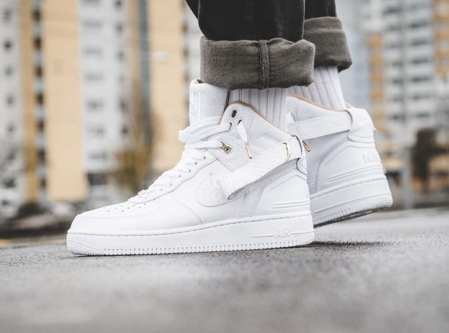 Chaussure Don C x Nike Air Force 1 High Just Don AF100 35 ans on feet (3)