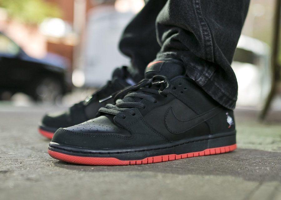 Chaussure Jeff Staple x Nike Dunk Low Pro Noire 'Black Pigeon' QS