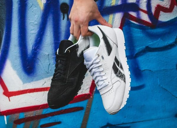 Montana Cans x Reebok Classic Leather 'Blackout & Whiteout'