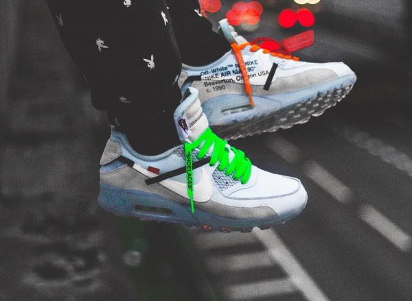 Chaussure Off White x Nike Air Max 90 Ice 'The Ten 10X' (semelle transparente) (1)
