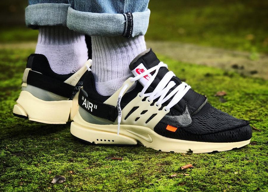 Chaussure Off White x Nike Air Presto '10X The Ten' par Virgil Abloh
