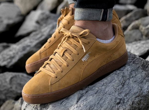 Chaussure Puma Basket Classic Weatherproof Taffy Wheat