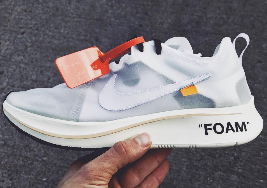 Off White x Nike Zoom Fly SP Foam Transparente 'The Ten'