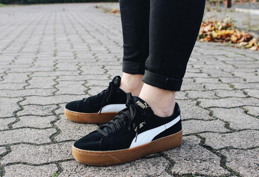 Puma Suede Platform Black Gum - @lisaftl