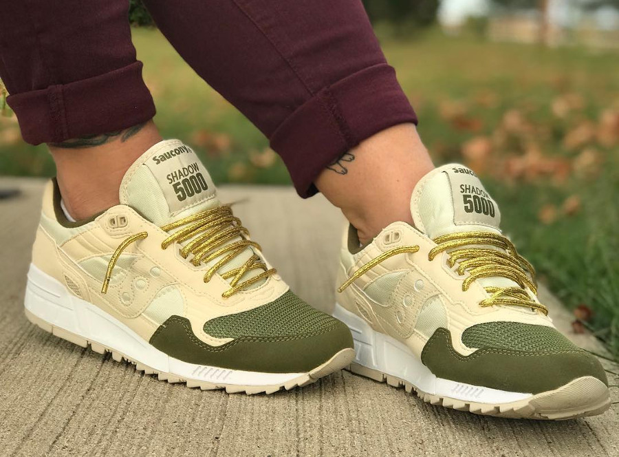 Saucony Shadow 5000 Cream Green - @megan.riley.89