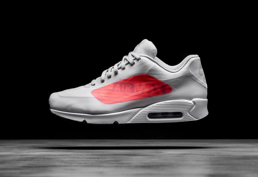 basket Nike Air Max 90 NS GPX Big Logo Neutral Infrared Grey AJ7183 001 (1)
